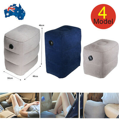 Travel Inflatable Leg Foot Rest Footrest Pillow Recliner Relax Cushion Pad Plane