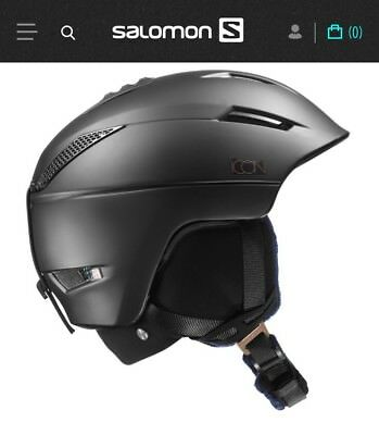 Damen Ski-Helm Salomon ICON CUSTOM AIR Black, Gr. S (53-56cm) NEU Schwarz Matt