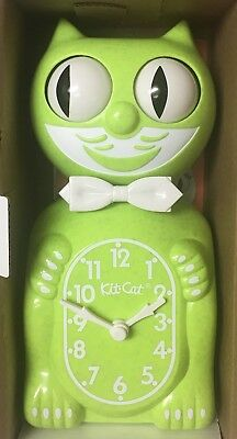 NIB Kit-cat Clock, Limited edition  Chartreuse, complete in box