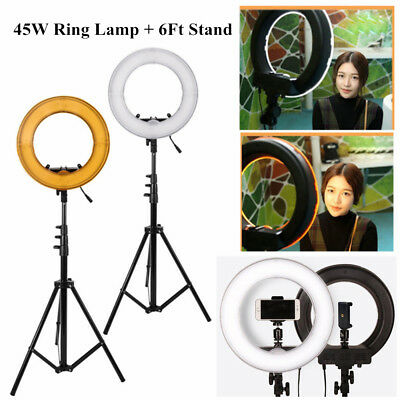 US 5500K 13'' LED Ring Light Lamp Dimmable Lighting with stand for Camera/Makeup