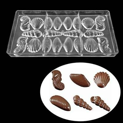 Easter Egg/Shell/leaves Shaped Jelly Mold Tool Hard Candy Tray Chocolate Mould