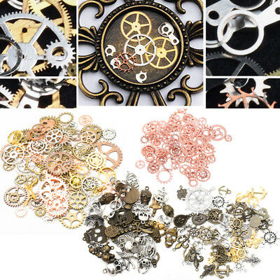 Watch Parts Clock Clockwork Hand Cogs and Gears 100g Steampunk Set Craft Arts UK