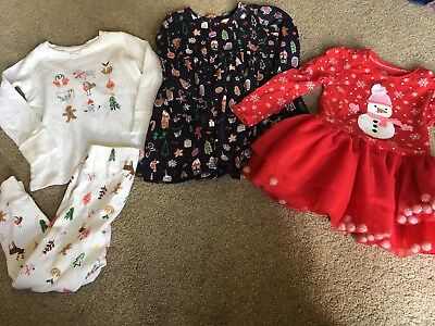 Next Girls Christmas Bundle 18-24 Months Dress, Pyjamas