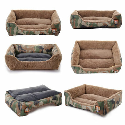 Durable Pet Camouflage Kennel House Warm Dog Bed Cat Cushion Mat Sofa Washable