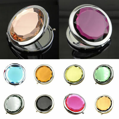 Cosmetic Makeup Double Vintage Portable Mini Pocket Round Compact Mirror