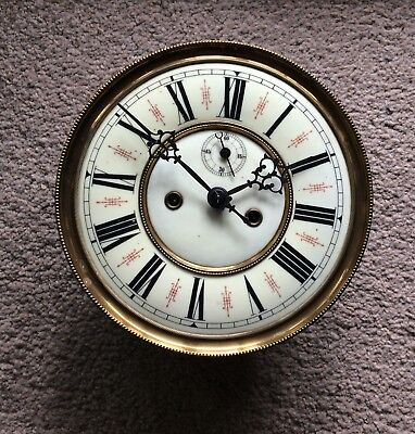 An Eight Inch Porcelain Dial Freiburg Double Weight Vienna Wall Clock Movement