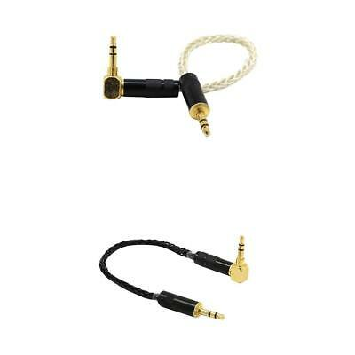 2x 3.5mm Jack 90° Male to Male Car Aux Auxiliary Cord Stereo Audio Cable