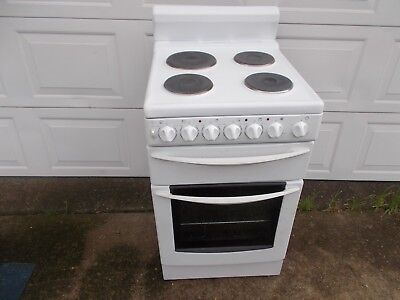 Chef 540mm freestanding electric oven separate grill top condition 6 m warranty