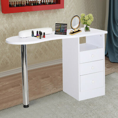 NEW Salon Beauty Nail Art Manicure Table Workstation Desk Arc Design w/ 3 Drawer