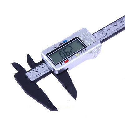 1x Digital Electronic Gauge Vernier 150mm 6'' Caliper Micrometer Carbon Fiber