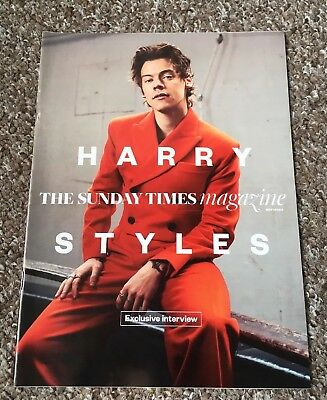 Harry Styles Sunday Times Magazine Uk Exclusive One Direction 1D May 2017