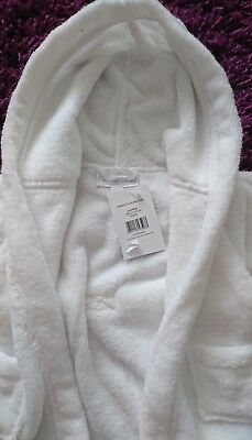 boys/girls little white company dressing gown 0-6 months