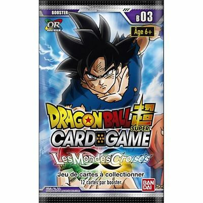 Dragon Ball Super Card Game  : Booster Les Mondes Croisés - série 3 VF - Neuf