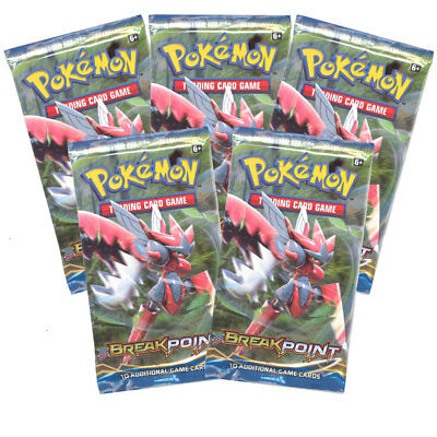 Pokemon Cards - XY BREAKpoint - Booster Packs (5 Pack Lot) - New Factory Sealed