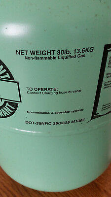 R22 BRAND NEW 30 LB Freon R-22 Refrigerant 30lbs Cylinder Sealed Top 1