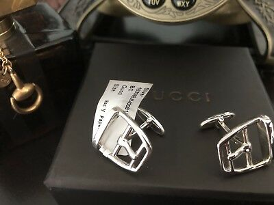 07d43065e AMAZING GUCCI SILVER Cufflinks $620 Retail !!! Must See!!! Made In ...