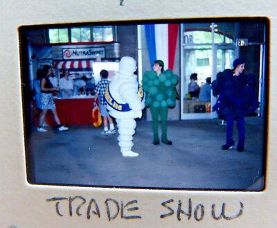 MICHELIN MAN FRUIT LOOM Life Size Photo Slide Transparency 1990 Trade Show