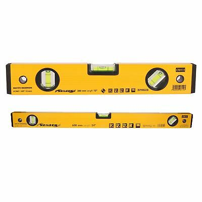 "12"" & 24"" 2pc Set Of Aluminium Scaffolding Builders Spirit Level Handheld Level"