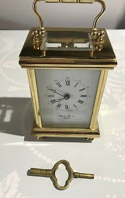 Philip Morris Brass Carriage Clock with Key.