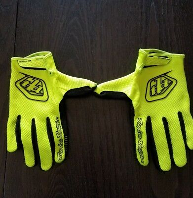 Troy Lee Designs 2018 TLD Air Gloves Solid FLO Yellow Mens Size LARGE MX MTB
