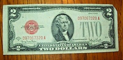 1928-G U.S. $2 Red Seal, United States Note, Banknote
