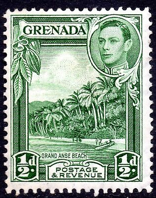 Grenada 1938 Sg 153 ½d Yellow-green Mounted Mint
