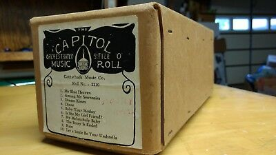 Captiol NICKELODEON electric player PIANO automatic music rolls  Gottschalk 2210