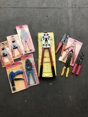 Job Lot Of Work Tools Wire Strippers, Cable Tie Tool, Crimping Tool etc