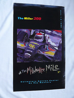 1996 Miller 200 Milwaukee Mile Ray Masters Collector Edition Racing Poster