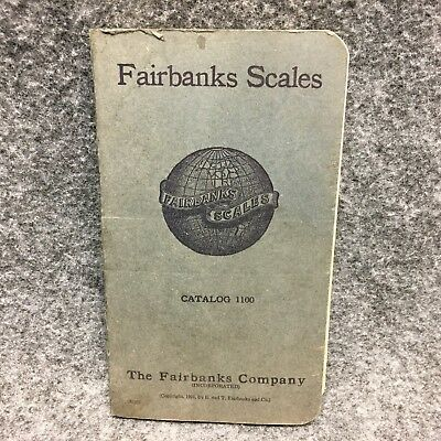 1923 FAIRBANKS SCALES Catalog 1100 Illustrated Advertising Booklet