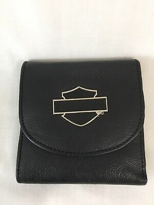 Harley-Davidson wallet-small Leather with B&S Medallion