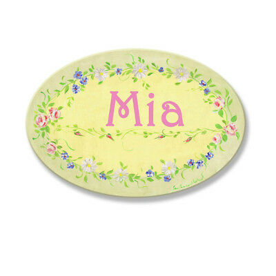 Mia Personalized Wooden Oval Wall Plaque