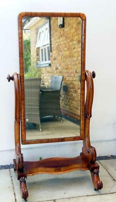 Large full height Victorian Mahogany cheval  mirror