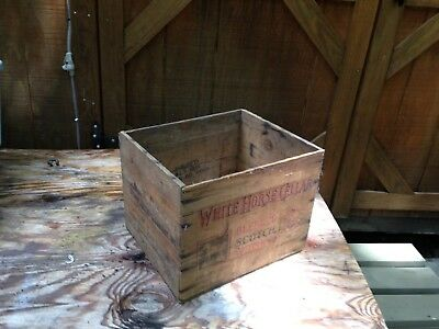 Vintage wooden Scotch crate  White Horse Cellar~advertising