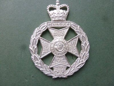 Royal Green Jackets ORs beret badge in frosted metal