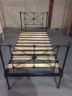 Antique Victorian single iron bed frame (Standard Size)