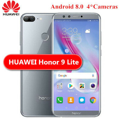 "Huawei Honor 9 Lite 5.65"" 18:9 FHD+Android8 4G Smartphone 4+32Go 4*Cam 13MP Gris"