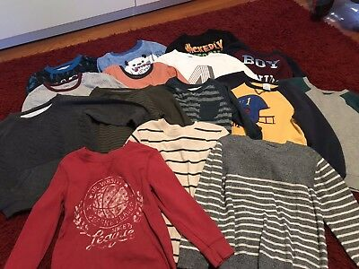 Toddler Boy Long Sleeve Shirts Tops Sweaters Lot Of 15 Size 5T