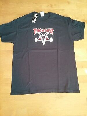 THRASHER Skate Goat Two Tone SHIRT Gr.L NEU*emerica*Element*huf*bones wheels*