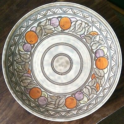 Charlotte Rhead signed Crown Ducal art deco charger design no.5802 32cms wide