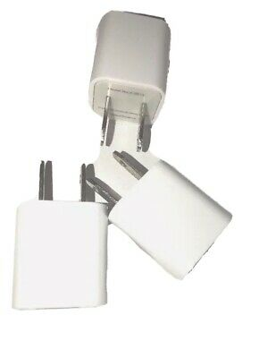 3x Lot White 1A USB Power Adapter AC Home Wall Charger US Plug