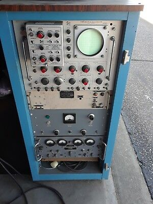 Vintage Analog Oscilloscope in case with channel A & B