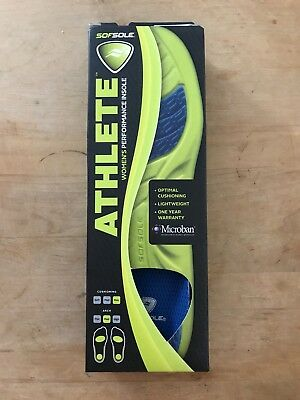 c3f7fdafa7 Sof Sole Women's Athlete Performance Insole, Size 8 - 11 Max Cushioning  Microban