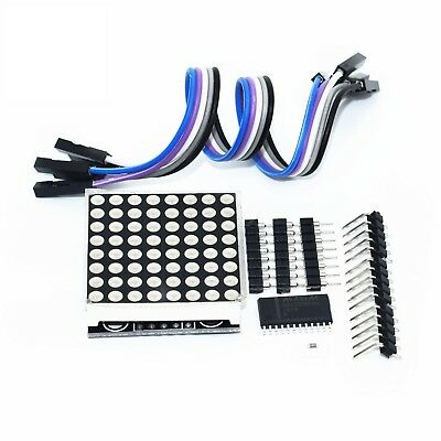 MAX7219 8x8 LED Dot Matrix Display Module Kit for Arduino SPI Unsoldered