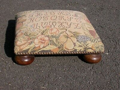 Very tidy Victorian Style Tapestry Foot Stool