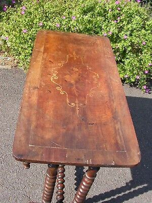 Antique Inlaid Victorian Side Table   £25  Take it away