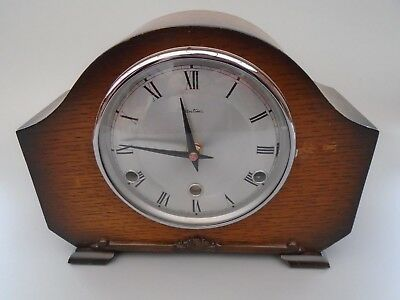 Antique Art Deco Bentima Mantle Clock Working On Battery Movement