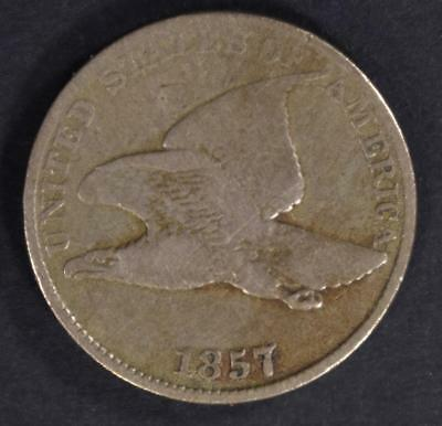 1857 Flying Eagle Cent, Fine