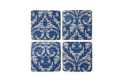 Ceramic Tile Coasters Santorini Vintage Style Set of 4 French Shabby Chic