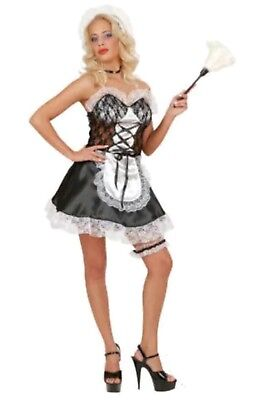 Las Y French Maid Fancy Costume Hen Do Night Party Outfit New Size Medium